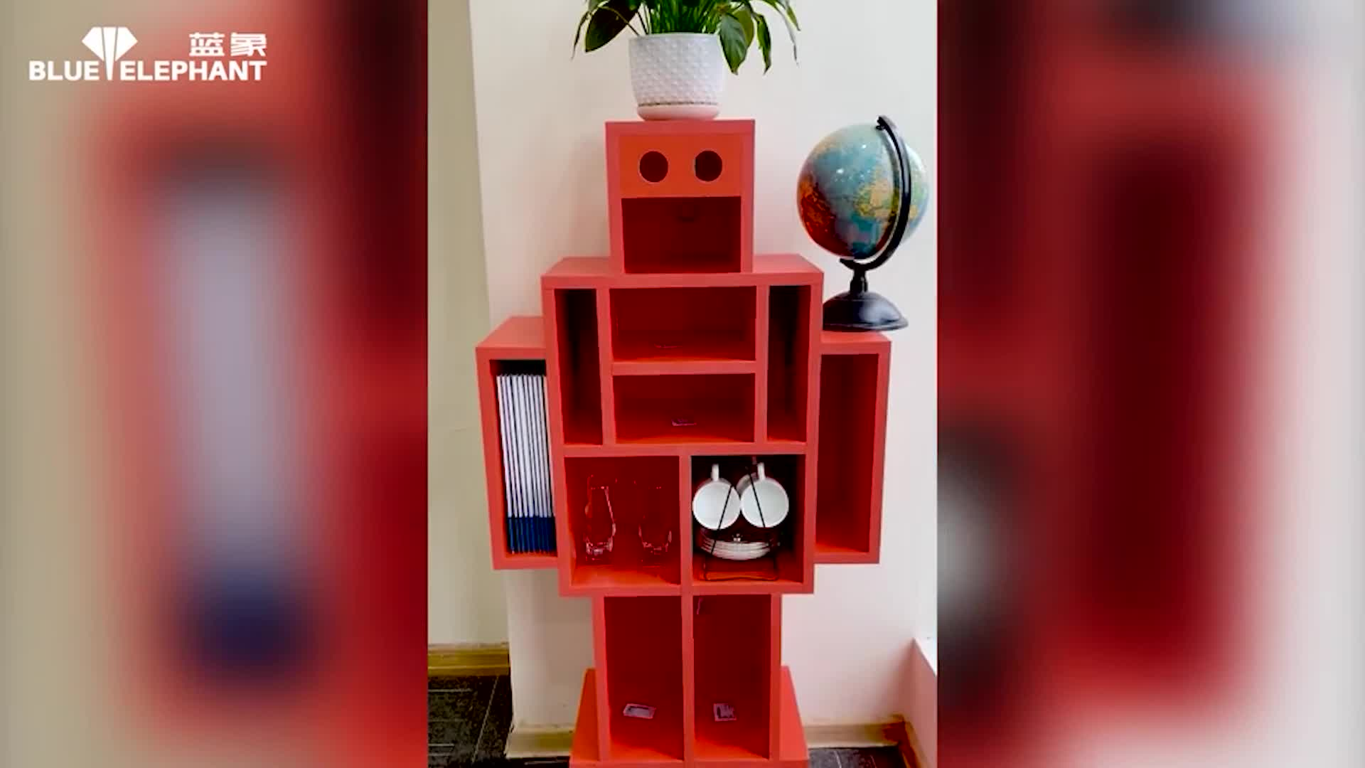 无孔工艺开料机加工机器人视频演示